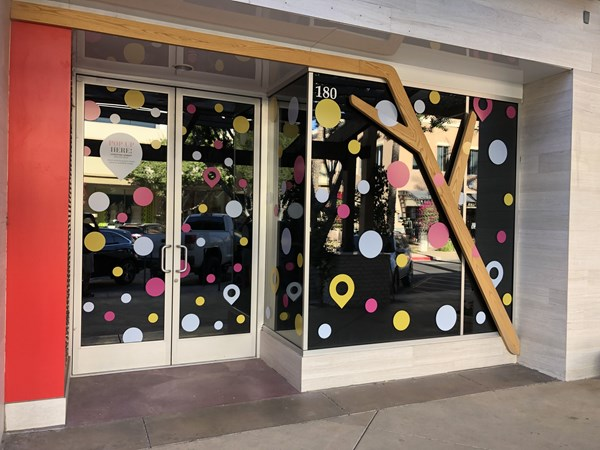 Colorful Window Decals in the Kierland Shopping Center