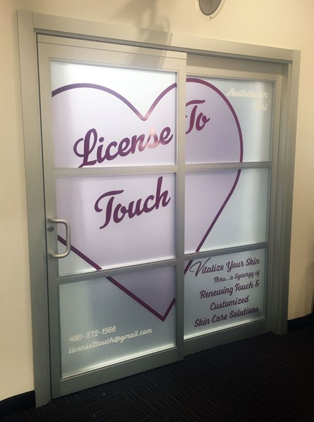 Custom Printed Frosted Window Graphics