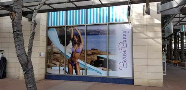 Window Decals, Signage & Graphics - Beach Bunny - Scottsdale Quarter
