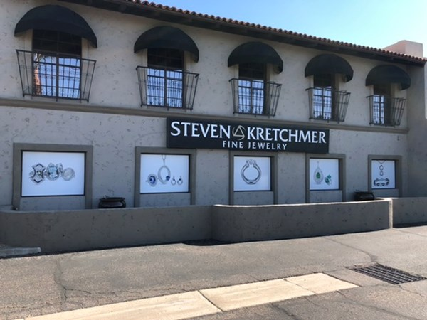 Custom Window Graphics for Steven Kretchmer Fine Jewelry