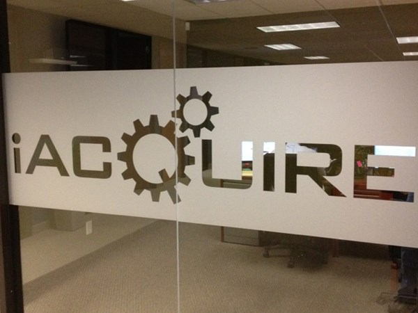 Custom Frosted Window Graphic