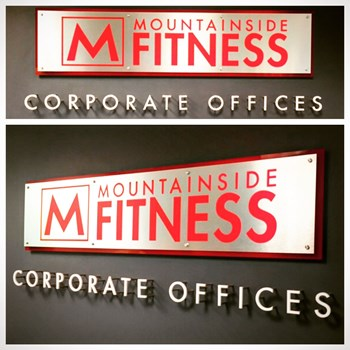 LED Illuminated Interior Reception Sign